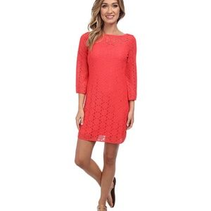 Lilly Pulitzer Topanga Dress-Island Coral Breakers